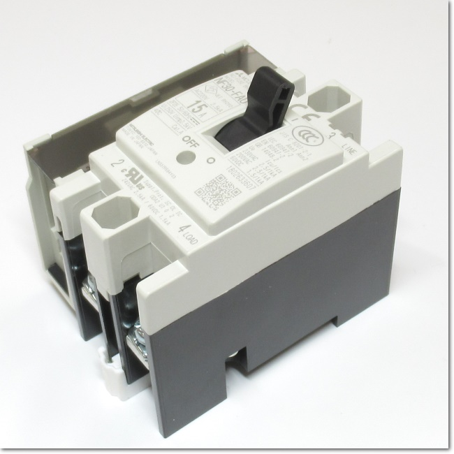 NF30-FAU,2P 15A AX-SLT ノーヒューズ遮断器 補助スイッチ付き (三菱電機)