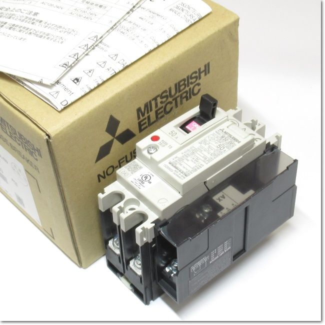 NF50-SVFU,2P 50A  UL 489Listedノーヒューズ遮断器 補助スイッチ付き (三菱電機)