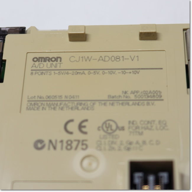 Omron CJ1W-AD081-V1 A//D unit lot of 2