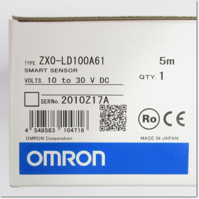 ZX0-LD100A61  アンプ内蔵CMOSレーザセンサ 5m (OMRON)